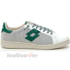 Scarpe Lotto Leggenda Autograph Net T4557 Uomo Retro Tennis White Green Sneakers