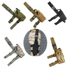 Tactical Military Gun Right Drop Leg Thigh Pistol Holster Pouch Holder Nylon