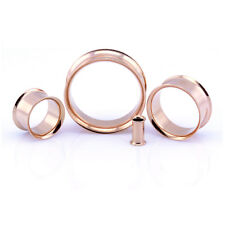 Oro Rosa Tunnel Lobo Orecchio Double Flared Metallo Piercing - 5mm - 30mm