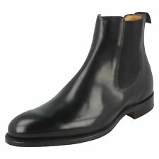 Mens Barker Formal Welted Sole Slip On Hi Shine Leather Chelsea Boots Bedale