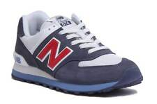 New Balance ML 574ESC Men Suede Mesh Navy Red Trainers Size UK 6 -12