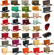 Ladies Small Clutch Bag Purse with Wristlet Long Adjustable Strap Cross Body Bag