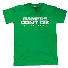 Gamers Don't Die We Respawn Gamer T Shirt - for Xbox PS4 PC Video Game Players