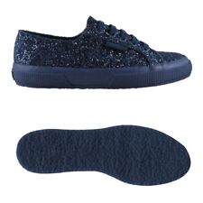 SUPERGA 2750 Sneaker DONNA CHIC FASHION MODA SCARPE Aut/Inv glitter blu NEW 913u