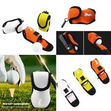 Durable Mini Golf Ball Holder Bag with Strong Snap Clip Contain 2 Balls LY