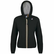 K-WAY LILY POLY JERSEY GIACCA DONNA CORTA CAPPUCCIO KWAY Nero New Nuovo K02tjylg