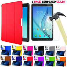 T580 T585 Hard Book Leather Shell Smart Stand Case Cover For Samsung Tab A 10.1""