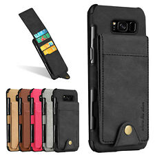 For Samsung Galaxy S9 Plus S8 Note 8 Leather Wallet Credit Card Stand Case Cover