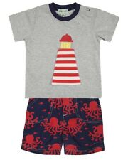 Lilly and Sid BB219 Little Boys Lighthouse Top and Shorts Set New