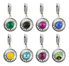 Sterling Silver Safety Earrings made with Rivoli 1122 8.3mm Swarovski® Crystals