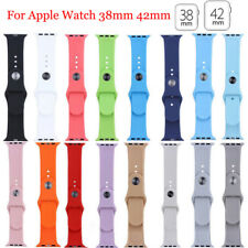 Replacement Silicone Soft Sport Band Strap For Apple Watch 42mm 38mm iWatch 12 3