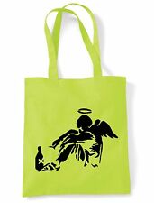 BANKSY FALLEN ANGEL TOTE  SHOULDER BAG - Choice of 6 Colours