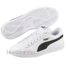 291b8edeab7 Puma Smash v2 L 365215 01 mens white black leather sneakers casual shoes low