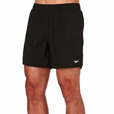 Speedo Solid Leisure 16in Mens Shorts Swim - Black All Sizes