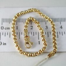 PULSERA ORO AMARILLO O BLANCO 750 18 CT ROLO,CÍRCULOS 2.5 MM,19 CM,MADE IN ITALY