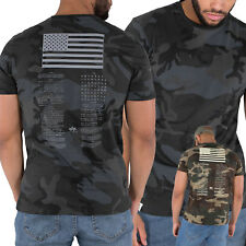 Alpha Industries Uomo T-Shirt Blood Chit Stampa T Parte Superiore S fino a 3XL