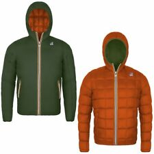 K-Way BAMBINO KWAY JACQUES THERMO PLUS DOUBLE Verde Arancio Scuro giacca 974ppvh