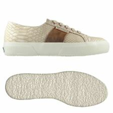 SUPERGA SNEAKER DONNA 2750 PUSNAKEW stampa serpente calzature Nude Nuovo N17ofqd