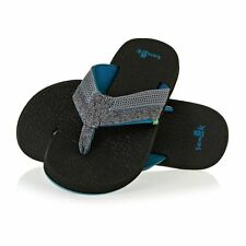 Sanuk M Beer Cozy 2 Mesh Homme Chaussures Tongs - Grey / Bay Blue Toutes Tailles