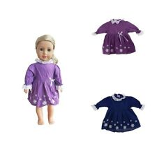 Handmade Sweet Doll Clothes Floral Dress for 18inch American Girl Doll Accs