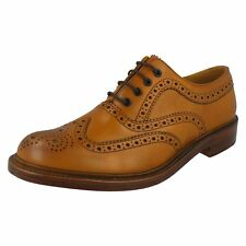 Mens Loake Wing Tip Toe Lace Up Burnished Leather Brogues Ashby