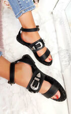 IKRUSH Womens Katja Double Buckle Strapped Sandals