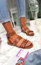 IKRUSH Womens Ruby Strappy Studded Buckled Sandals