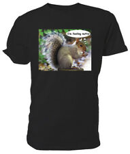Grey Squirrel T shirt, I'm Feeling Nutty!, WILDLIFE - Choice of size & colour!