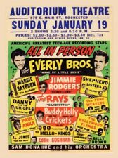 Everly Brothers Rock N Roll Concierto Retro Cartel Póster