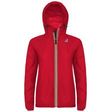 K-WAY DONNA LE VRAI 3.0 CLAUDETTE GIACCA CAPPUCCIO KWAY Rosso Variable New K08eh