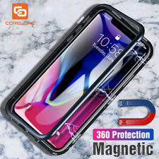NEW Transparent Tempered Glass Case for iPhone X 6 6s 7 8 Plus Cases Magnetic