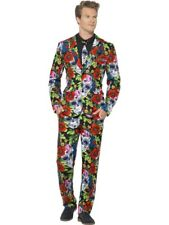 Day Of The Dead Teschio Completo Messico Suit Slimline Uomo 3 Pezzi Premium Gr