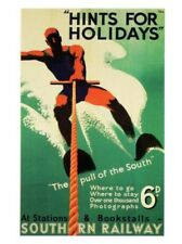 Hints per Vacanze Classico 1938 Southern Railways Poster Stampa Nuovo
