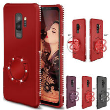 Luxury Crystal Bling Diamond Glitter Ring Stand Case Cover Fr Samsung Note 8 S9+
