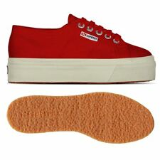 SUPERGA ZEPPA 4cm 2790 Scarpe DONNA calzature tela ACOTW UP AND DOWN Rosso 975zb
