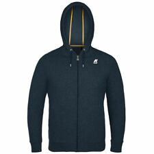 K-WAY felpa UOMO RAINER FRENCH TERRY GIACCA casual CAPPUCCIO KWAY Blu NEWS K89hi