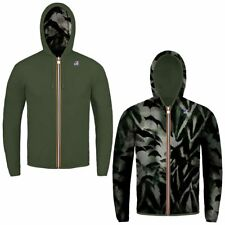 K-WAY JACQUES PLUS DOUBLE GRAPHIC giacca reverse KWAY UOMO meteo Idrorep. 902oyf