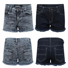 Ladies Stretch Denim Jeans Shorts Girls Women's Hot Pant Summer Short Size 8-16