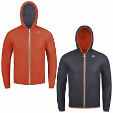 K-WAY JACQUES PLUS DOUBLE giacca reverse KWAY UOMO meteo antivento leggera A19gi