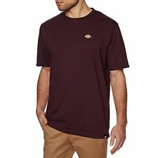 Dickies Stockdalee Homme T-shirt à Manche Courte - Maroon Toutes Tailles