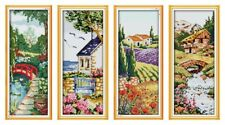 4 Seasons Cross Stitch Kits | Counted or Printed | 11ct, 14ct, or 18ct