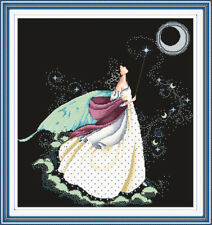 Moon Fairy Counted Cross Stitch Kit | Choice of Fabric Colour & CT