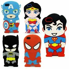 3D SUPER HEROES CARTOON COMIC SILICONE CASE COVER FOR IPHONE 8 8 PLUS  7 7+ 6S 6