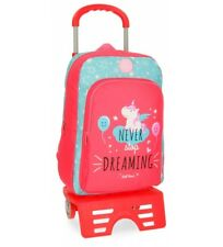 Roll Road - Zaino con carrello Roll Road Unicorn Coral -42x31x13c.. Bambini