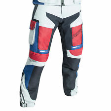 RST Adventure 3 III Textile Motorcycle Riding Jeans - CE APPROVED - Ice/Blue/Red