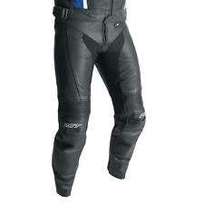 RST R-18 Leather Motorcycle Motorbike Riding Jeans - CE APPROVED - Black