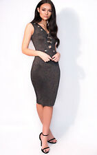 IKRUSH Womens Milly Midi Luxe Cut Out Bandage Dress