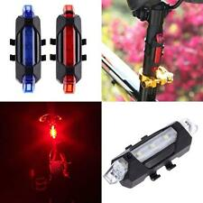 USB Rechargeable Bike Bicycle Cycling Tail Rear Safety Warning LED Light Lamp BG