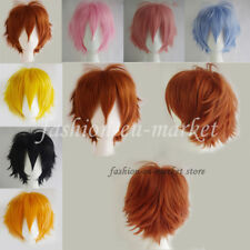 Short Fashion Spiky Layered Anime Cosplay Wig Carnival Wigs Fancy Dress Full Wig
