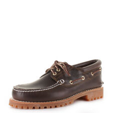Mens Timberland Traditional Classic Lug 3 Eye Brown Leather Boat Shoes Size